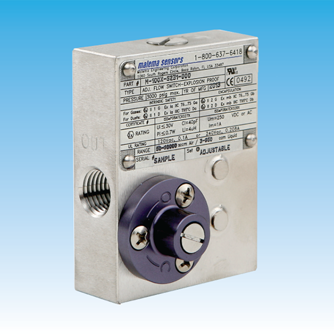 Picture of M-100X Series Ex-proof Adjustable Flow Switches